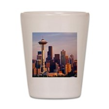 The Space Needle at dusk in Seattle, Wa Shot Glass