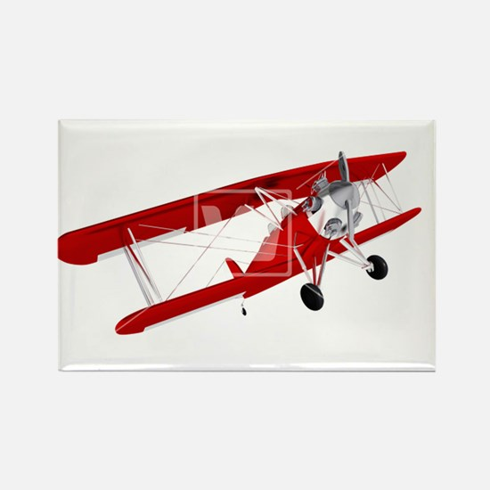 red biplane Rectangle Magnet