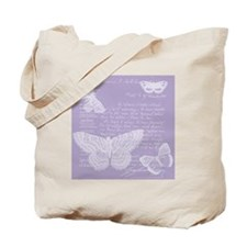 French Lilac Butterflies Tote Bag