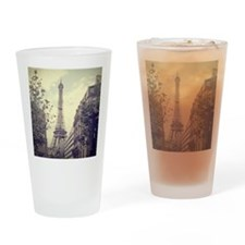 The Eiffel tower surrounded by the  Drinking Glass
