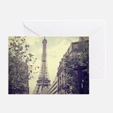The Eiffel tower surrounded by the s Greeting Card