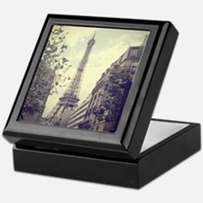 The Eiffel tower surrounded by the st Keepsake Box