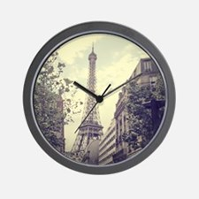 The Eiffel tower surrounded by the stre Wall Clock