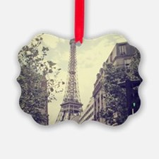 The Eiffel tower surrounded by th Ornament