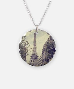 The Eiffel tower surrounded  Necklace