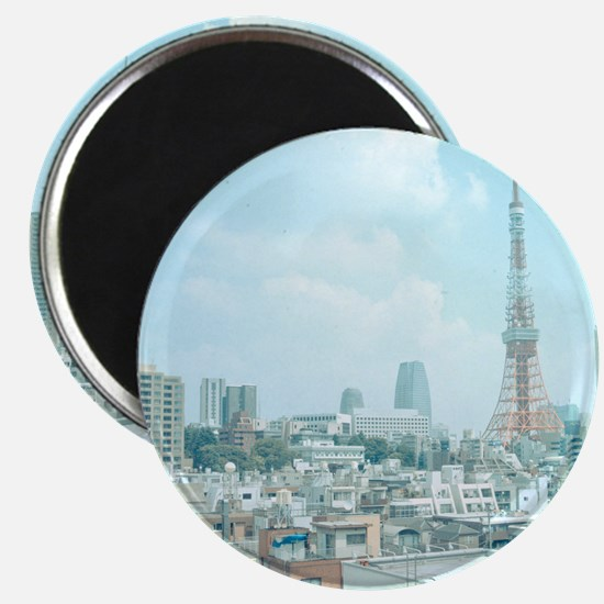 Tokyo Tower and skyline, Japan. Magnet