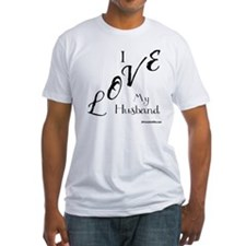 Love My Husband Logo Black Shirt