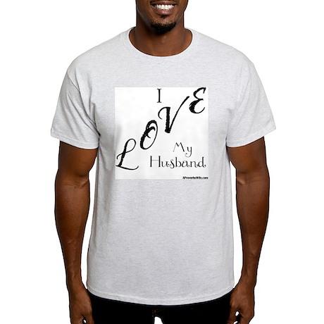 Love My Husband Logo Black Light T-Shirt