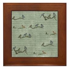 Birds on Branches Framed Tile