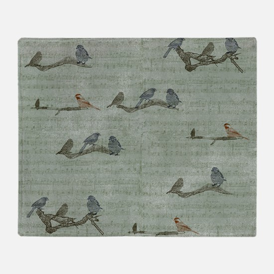 Birds on Branches Throw Blanket