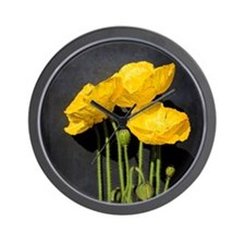 Vibrant, zesty living Iceland poppies i Wall Clock
