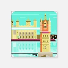 "Tower Bridge and the tower  Square Sticker 3"" x 3"""