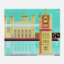 Tower Bridge and the tower of London Throw Blanket