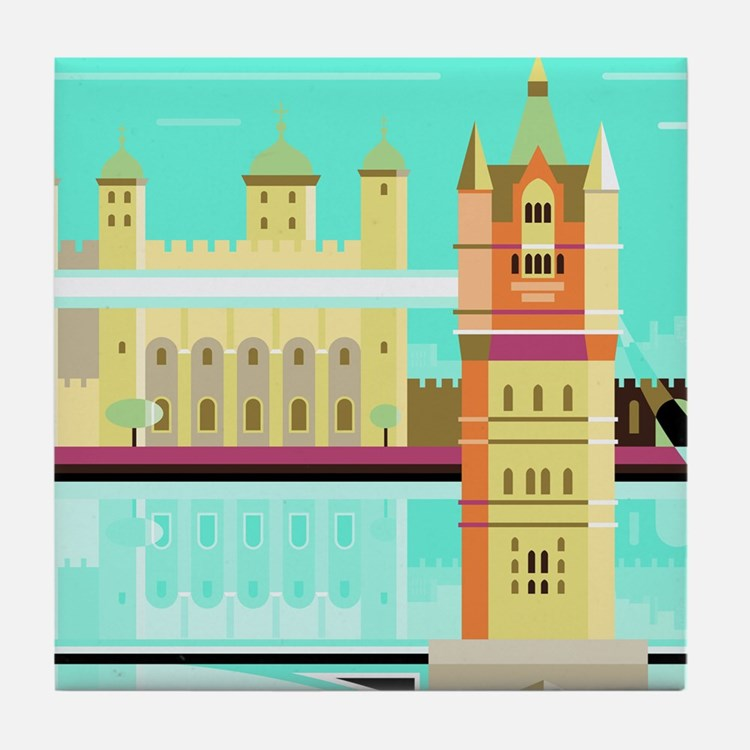 Tower Bridge and the tower of London, Tile Coaster