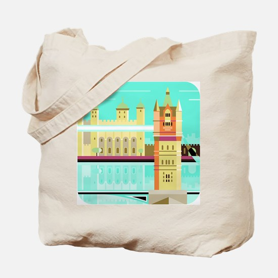 Tower Bridge and the tower of London, Uni Tote Bag