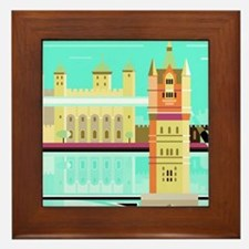 Tower Bridge and the tower of London,  Framed Tile