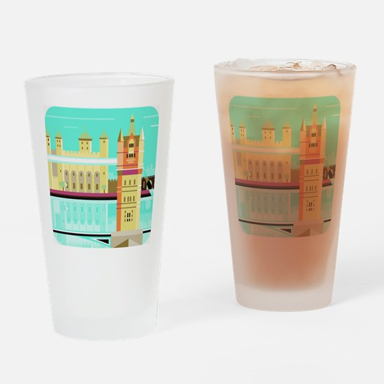 Tower Bridge and the tower of Londo Drinking Glass