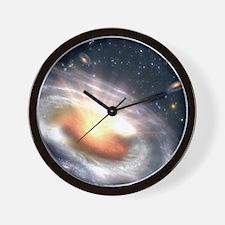 Bursting Black Hole Wall Clock