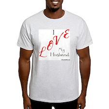 Love My Husband Logo Fuschia n Black T-Shirt
