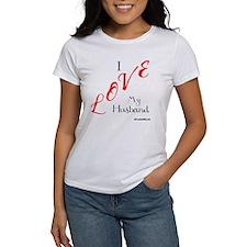 Love My Husband Logo Fuschia n Bla Tee
