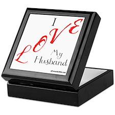 Love My Husband Logo Fuschia n Black Keepsake Box
