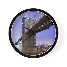 Underneath Brooklyn bridge, New York. Wall Clock