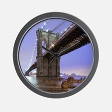 Underneath Brooklyn bridge, New York. Wall Clock