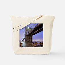 Underneath Brooklyn bridge, New York. Tote Bag