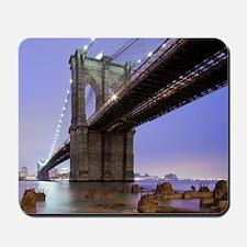 Underneath Brooklyn bridge, New York. Mousepad