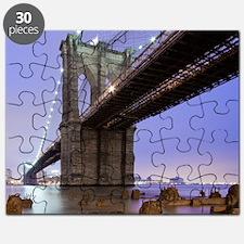 Underneath Brooklyn bridge, New York. Puzzle