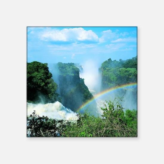 """Victoria Falls, Zimbabwe Square Sticker 3"""" x 3"""""""