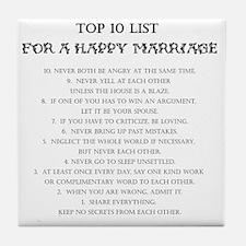 Happy Marriage List Tile Coaster
