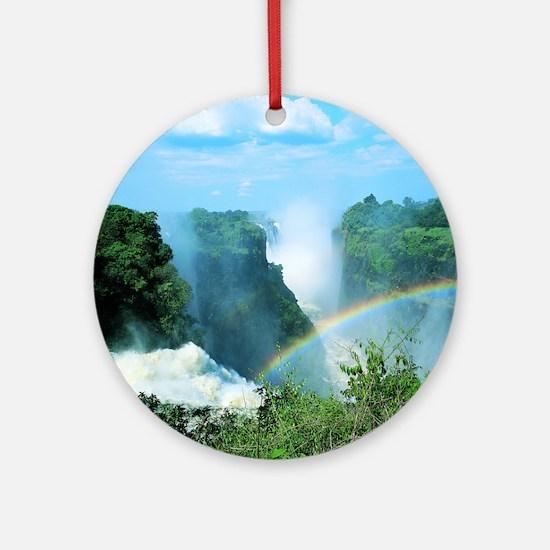 Victoria Falls, Zimbabwe Round Ornament