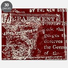 Vintage Script Red Puzzle