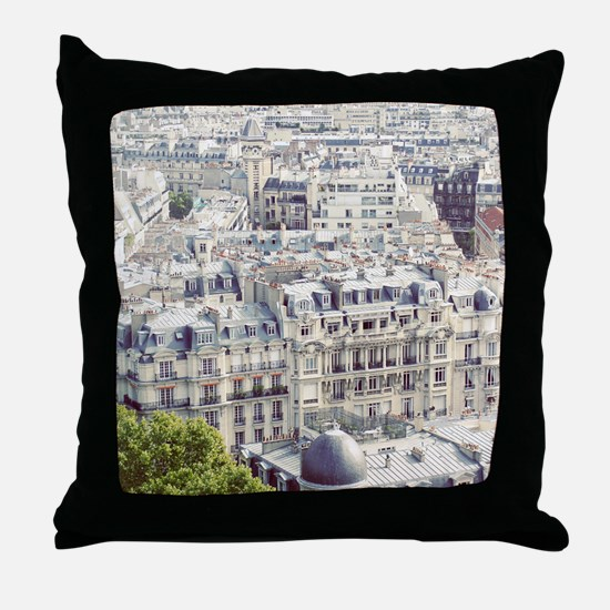 View of roofs of Paris. Throw Pillow