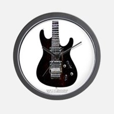 """GlowingEdges"" Guitar Wall Clock"