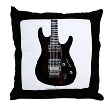 """GlowingEdges"" Guitar Throw Pillow"
