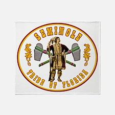 Vintage Seminole Tribe of Florida. Throw Blanket
