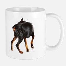 Two Dobermans looking at each other, st Mug