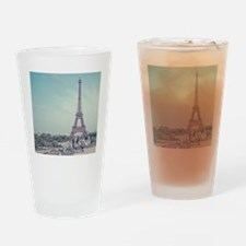Two love birds with view of Eiffel  Drinking Glass