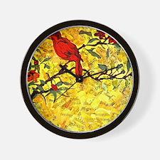 red bird Rondo Wall Clock