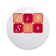 Big Sis (Red/Orange) Ornament (Round)