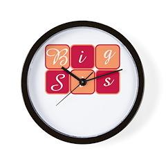 Big Sis (Red/Orange) Wall Clock