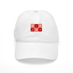 Big Sis (Red/Orange) Baseball Cap