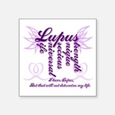 "Lupus Square Sticker 3"" x 3"""