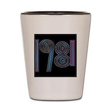 1981   cool year logo Shot Glass