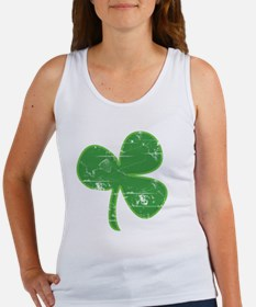 Distressed Vintage Clover St Patr Women's Tank Top