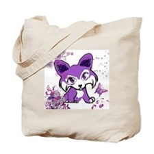 Purple Corgi Manga Tote Bag