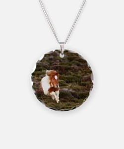 Young pony running downhill  Necklace
