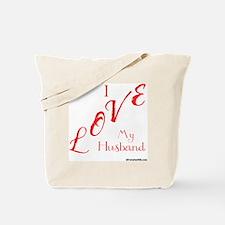 Love My Husband Logo Hot Pinky Tote Bag